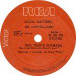 1979 – Una triste jornada/La cinta rosa – Lucio Battisti (Uruguay)