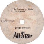1968 – La mia canzone per Maria/Per una lira – Lucio Battisti (Stati Uniti)