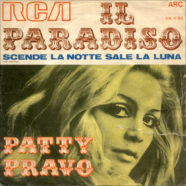 03/1969 – Il paradiso / Scende la notte sale la luna – Patty Pravo – ARC Piper Club Series AN 4180 – Italia – Variante