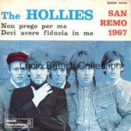 16/01/1967 – Non prego per me / Devi avere fiducia in me – The Hollies – Parlophon QMSP 16402 – Italia