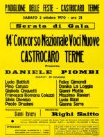 """Locandina """"14° Concorso Nazionale Voci Nuove. Castrocaro Terme"""""""