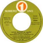 1977 – Sentir amor/Si viajando – Lucio Battisti (Spagna promozionale)