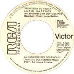1971 – La canzone del sole/Anche per te – Lucio Battisti (Spagna promozionale)