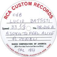 1977 – A song to feel alive  – Lucio Battisti – PR-015 – Test-pressing a 0 db (Stati Uniti)