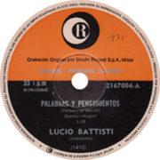 1971 – Ricordi 2167004 (Promo) (Argentina)