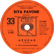 1969 – Azucar / Nostalgia – Rita Pavone – (Argentina)