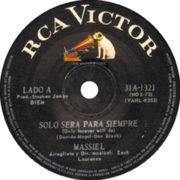 1968 – Solo sera para siempre / El girar de una rueda – Massiel (Argentina)