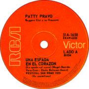 1970 – Una espada en el corazon / Roma es como una prision – Patty Pravo (Argentina)