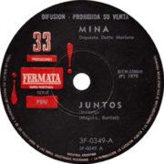 1979 – Juntos / Viva ella – Mina (Argentina promo)
