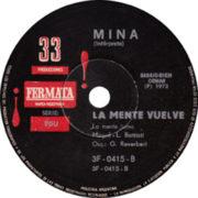 1972 – Hombre / La mente vuelve – Mina (Argentina)