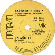 1972 – Bailaremos / Un ano ya – Barbara Y Dick (Argentina)