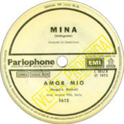 1973 – Amor mio/Balada para mi muerte – Mina (Argentina promo)