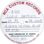 1977 – A song to feel alive  – Lucio Battisti – PR-015 – Test-pressing a -2 db (Stati Uniti)