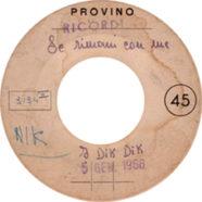 05/01/1966 – 1-2-3 / Se rimani con me – Dik Dik – White label promo (Italia)