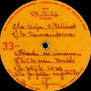 20/12/1967 – La farfalla impazzita – Lucio Battisti – Acetato (Italia)