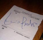 Autografo di Lucio Battisti