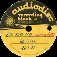 26/07/1971 – Dio mio no – Lucio Battisti – Acetato (Italia)